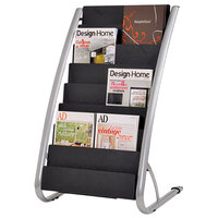 Alba DDEXPO8 Silver and Black 16-Pocket Display Rack - 23 inch x 19 5/8 inch x 36 5/8 inch