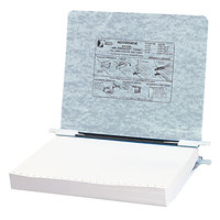 Acco 54124 Letter Size Side Bound Hanging Data Post Binder - 6 inch Capacity with 2 Fasteners, Light Gray