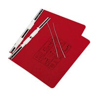 Acco 54139 8 1/2 inch x 12 inch Side Bound Hanging Data Post Binder - 6 inch Capacity with 2 Fasteners, Executive Red