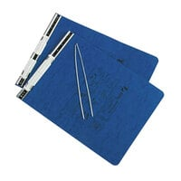 Acco 54113 9 1/2 inch x 11 inch Top Bound Hanging Data Post Binder - 6 inch Capacity with 2 Fasteners, Dark Blue