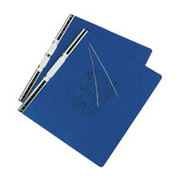 Acco 54073 11 inch x 14 7/8 inch Side Bound Hanging Data Post Binder - 6 inch Capacity with 2 Fasteners, Dark Blue