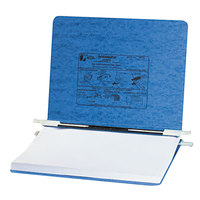 Acco 54032 8 1/2 inch x 11 3/4 inch Side Bound Hanging Data Post Binder - 6 inch Capacity with 2 Fasteners, Light Blue
