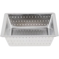 10 inch x 10 inch x 3 inch Flanged Stainless Steel Floor Drain Strainer with 1/8 inch Perforations