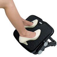 Alera ALEFS112 Black Soft Cushioned Ergonomic Footrest