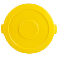 Continental 4445YW Huskee 44 Gallon Yellow Round Trash Can Lid