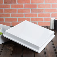 Elite Global Solutions M1214RCLID Cabana 12 1/4 inch x 10 1/2 inch White Melamine Box Lid