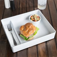 Elite Global Solutions M1214RC Cabana 12 1/4 inch x 10 1/2 inch White Melamine 2-Compartment Box