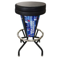 Holland Bar Stool L500030NYRangBlkVinyl New York Rangers Indoor / Outdoor LED Bar Stool