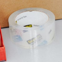 3M 3850 Scotch® 1 7/8 inch x 54.6 Yards Clear Heavy-Duty Shipping and Packaging Tape