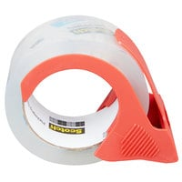 3M 38502RD Scotch® 1 7/8 inch x 54.6 Yards Clear Heavy-Duty Shipping and Packaging Tape with Dispenser   - 2/Pack