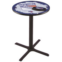Holland Bar Stool L211B3628NYRANG-D2 28 inch Round New York Rangers Pub Table