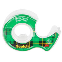 3M 3105 Scotch® Magic™ 3/4 inch x 300 inch Transparent Write-On Invisible Tape with Dispenser - 3/Pack