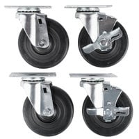 Vollrath 38099 Equivalent 4 inch Swivel Casters for ServeWell Hot and Cold Food Tables - 4/Set