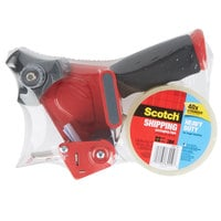 3M 3850-ST Scotch® 1 7/8 inch x 54.6 Yards Clear Heavy-Duty Shipping and Packaging Tape with Dispenser Gun