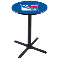 Holland Bar Stool L211B3628NYRANG 28 inch Round New York Rangers Pub Table