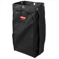 Rubbermaid 1966888 Executive 30 Gallon Black High Capacity Vinyl-Lined Canvas Housekeeping Cart Bag