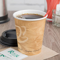 Solo 370MS-0029 10 oz. Mistique Single Sided Poly Paper Hot Cup - 1000/Case