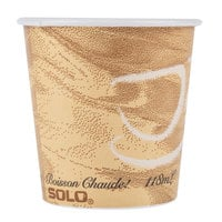 Solo 374MS-0029 4 oz. Mistique Single Sided Poly Paper Hot Cup - 1000/Case