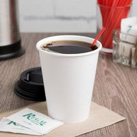 Solo 378W-2050 8 oz. White Single Sided Poly Paper Hot Cup - 1000/Case