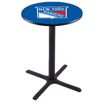 Holland Bar Stool L211B4228NYRANG 28 inch Round New York Rangers Bar Height Pub Table