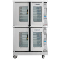 Garland MCO-GD-20 Liquid Propane Double Deck Deep Depth Full Size Convection Oven with Digital Controls - 120,000 BTU