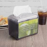 San Jamar H4004TBK Venue Black Pearl Mini Interfold Tabletop Napkin Dispenser