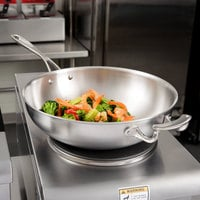 Vollrath 49418 Miramar Display Cookware 12 inch Stir Fry Pan with Helper Handle