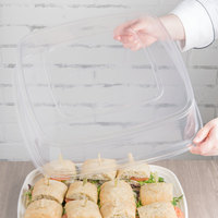 Eco Products EP-SCTRS16LID Regalia 16 inch Square Clear Compostable PLA Plastic Lid - 25/Pack
