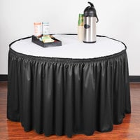 Snap Drape 5412CE29S3-014 Wyndham 13' x 29 inch Black Shirred Pleat Table Skirt with Velcro® Clips