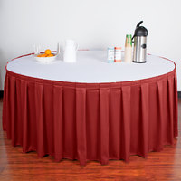 Snap Drape 5412GC29B3-750 Wyndham 21' 6 inch x 29 inch Terra Cotta Box Pleat Table Skirt with Velcro® Clips