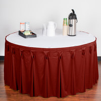 Snap Drape 5412EG29W3-750 Wyndham 17' 6 inch x 29 inch Terra Cotta Bow Tie Pleat Table Skirt with Velcro® Clips