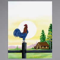 8 1/2 inch x 11 inch Menu Paper - Breakfast Themed Rooster Design Cover - 100/Pack