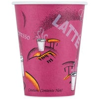 Solo 412SIN-0041 Bistro Print 12 oz. Poly Paper Hot Cup - 1000/Case