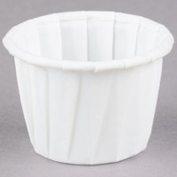 Solo SCC075 .75 oz. White Paper Souffle / Portion Cup - 5000/Case