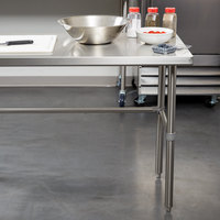 Regency 24 inch x 72 inch 16-Gauge 304 Stainless Steel Commercial Open Base Work Table