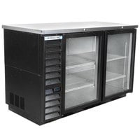 Beverage-Air BB58HC-1-G-B 59 inch Back Bar Refrigerator with 2 Glass Doors 115V
