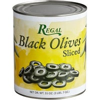 Regal #10 Can Sliced Black Olives - 6/Case