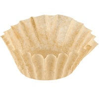 9 3/4 inch x 4 1/2 inch Unbleached Natural Coffee Filter 12 Cup - 1000/Case