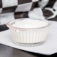 GET ER-001-CL 1 oz. Clear Fluted Plastic Ramekin - 12/Pack