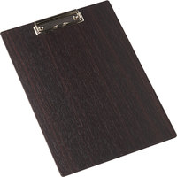 American Metalcraft CB12 9 inch x 12 1/2 inch Espresso Wood Clipboard Menu Holder