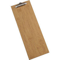 American Metalcraft BB4 4 1/2 inch x 12 1/2 inch Bamboo Wood Clipboard Menu Holder