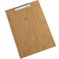 American Metalcraft BB12 9 inch x 12 1/2 inch Bamboo Wood Clipboard Menu Holder