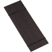 American Metalcraft CBRB12 4 1/2 inch x 12 1/2 inch Espresso Wood Rubberband Menu Holder