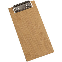 American Metalcraft BB8 4 inch x 8 inch Bamboo Wood Clipboard Menu Holder
