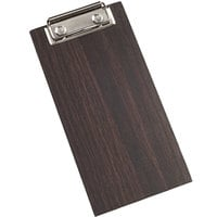American Metalcraft CB8 4 inch x 8 inch Espresso Wood Clipboard Menu Holder