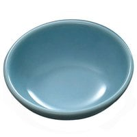 Thunder Group 3935 Blue Jade 3 oz. Round Melamine Sauce Dish - 24/Pack