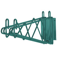 Advance Tabco GDB-18 18 inch Deep Double Wall Mounting Bracket for Adjoining Green Epoxy Coated Wire Shelving