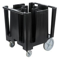 Cambro DCS950110 Versa Black Dish Caddy with Vinyl Cover - 5 Column