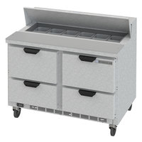 Beverage-Air SPED48HC-12-4 Elite Series 48 inch 4 Drawer Refrigerated Sandwich Prep Table