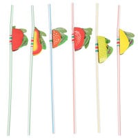 Royal Paper RS950F Assorted Paper Fruit Straws - 144/Box